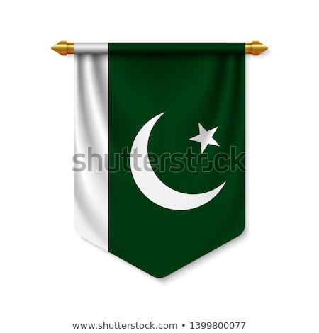 Futball zászló Pakisztán zöld fű futball mező Stock fotó © MikhailMishchenko