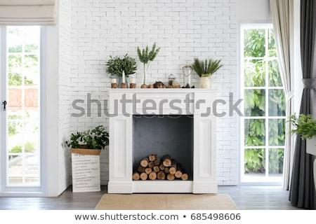 Green Fireplace Stock photo © smuki
