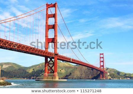 Golden Gate Bridge San Francisco cielo agua ciudad Foto stock © hanusst