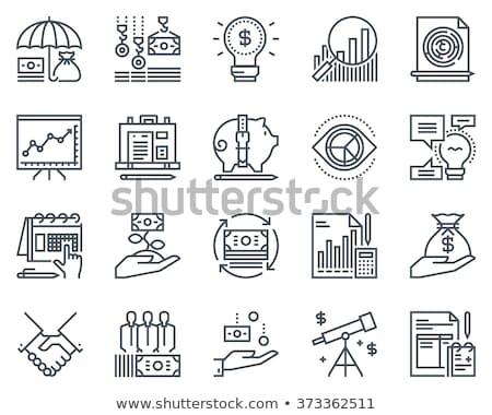 black finance icons stock photo © SergeyT