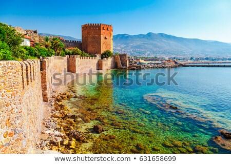крепость башни турецкий Средиземное море морем город Сток-фото © kravcs