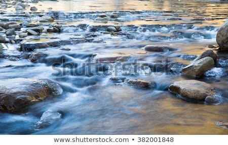 bevroren · waterval · stream · verticaal · glad · steil - stockfoto © anterovium