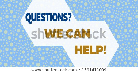 expert advice in blue hexagon stock photo © marinini