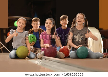 Happy Bowler Sitting At The Bowling Alley Stock photo © Jasminko