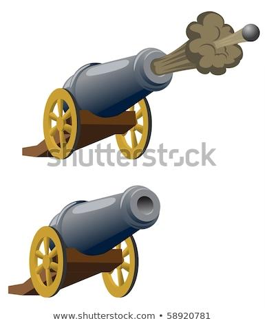 漫画 大砲 実例 準備 火災 ストックフォト © bruno1998
