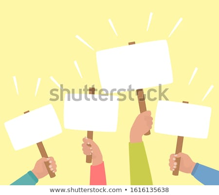 seçim · poster · karikatür · aday · mutlu · takım · elbise - stok fotoğraf © silense