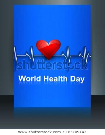Belo folheto coração mundo saúde dia Foto stock © bharat