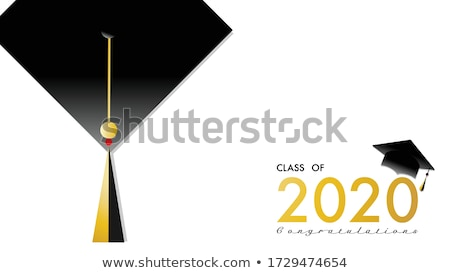 Graduation jour cap diplôme table Photo stock © idesign