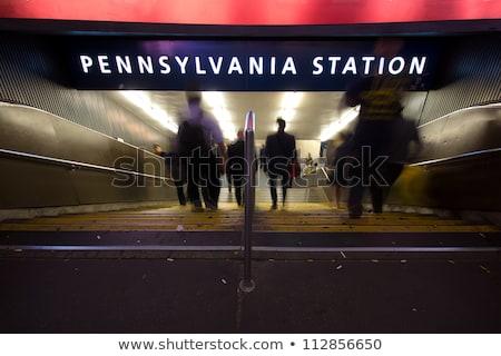 train arrives in the underground station in New York Stock photo © meinzahn