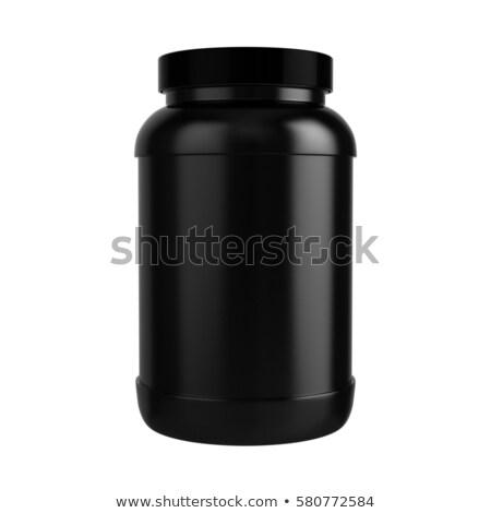 proteine · shake · nero · 3D · medici - foto d'archivio © fpi107