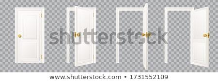 Casa blanca entrada oficina paisaje casa seguridad Foto stock © alex_grichenko