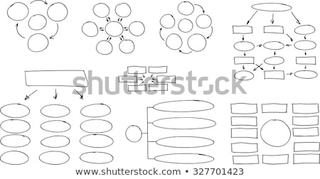 Hand Drawing Flow Chart Marker Stock photo © ivelin