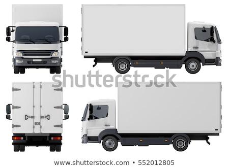 Küçük kamyon karikatür kroki örnek Stok fotoğraf © perysty