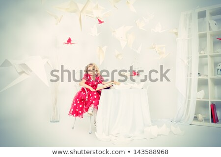 menina · gaiola · pôr · do · sol · ilustração · crianças · natureza - foto stock © adrenalina