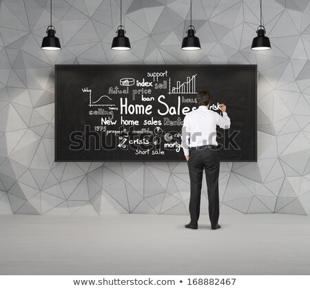 Real-estate concept. sold sign, people and home Stock photo © designers