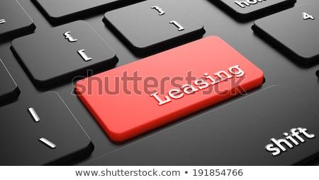 Leasing czerwony klawiatury przycisk czarny Zdjęcia stock © tashatuvango
