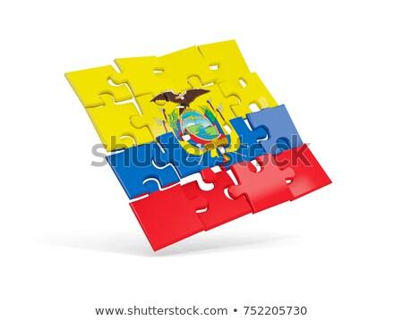 Ecuador zászló puzzle izolált fehér futball Stock fotó © Istanbul2009