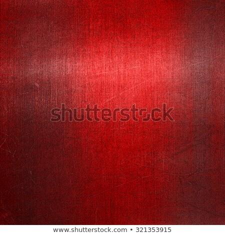 Boş kırmızı madeni yüzey 3d render örnek Stok fotoğraf © nav