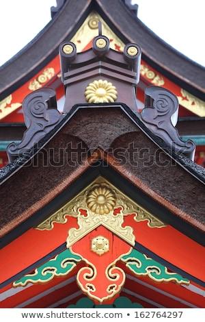 Détail toit kyoto Japon bâtiment bois Photo stock © rufous