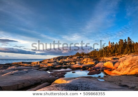 Sunlight reflecting in sea, Quebec, Canada Stock photo © bmonteny
