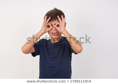 Crazy мальчика сердиться Kid бензопила Сток-фото © tiKkraf69