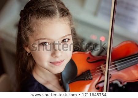 играет · скрипки · музыку · урок · девушки - Сток-фото © highwaystarz