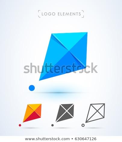 Abstrato pipa logotipo negócio azul Foto stock © shawlinmohd