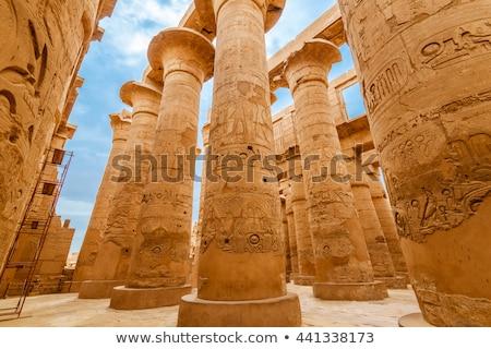 Muhteşem sütunlar tapınak luxor taş Afrika Stok fotoğraf © eleaner