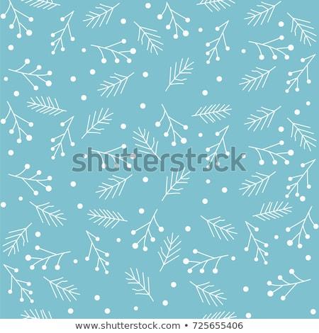 Vettore inverno pattern fiocchi di neve eps Foto d'archivio © alexmakarova