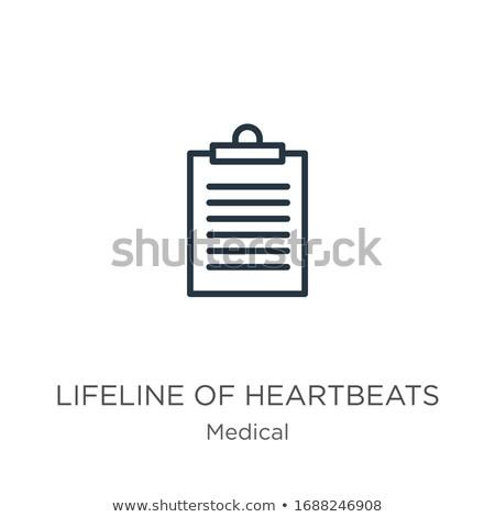 буфер обмена спасательный трос сердце иллюстрация дизайна фитнес Сток-фото © alexmillos