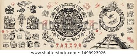 Maya glyphs Stock photo © morrmota