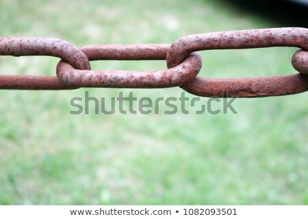 Stock photo: Thick steel chain