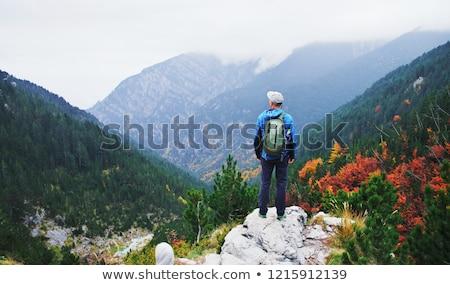 Camino superior montana Grecia cielo nubes Foto stock © mahout