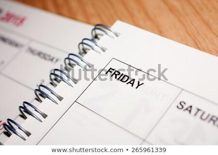 Calendário programar página em branco papel spiralis Foto stock © stevanovicigor