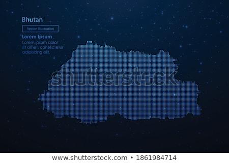 Kaart koninkrijk Bhutan patroon vector Stockfoto © Istanbul2009