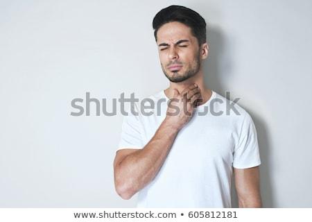 retrato · homem · bonito · isolado · branco · homem - foto stock © deandrobot