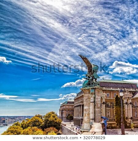 ünlü efsanevi kale Budapeşte heykel Stok fotoğraf © Fesus