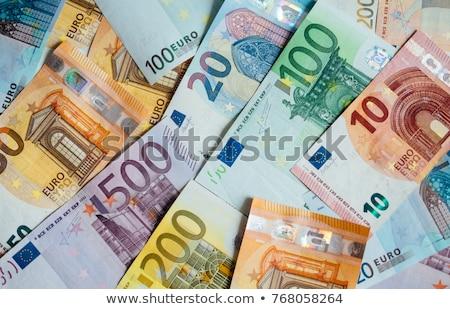 Euro geld financiële business Blauw financieren Stockfoto © fantazista