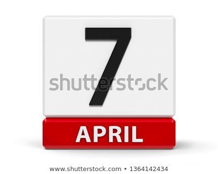 april in 3d cubes Stock photo © marinini