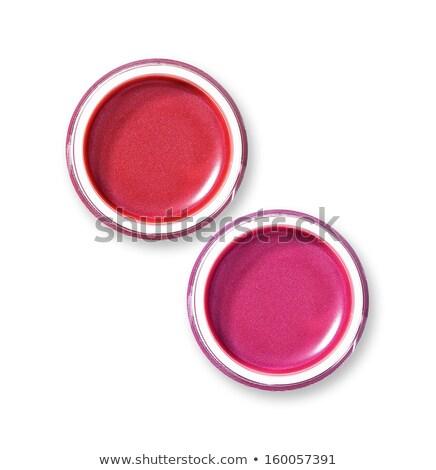lipgloss · geïsoleerd · witte · gezicht · borstel · make - stockfoto © elisanth