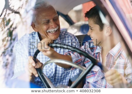 Young boy passionate about automobiles Stock photo © lightkeeper