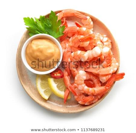 decorativo · isolado · camarão · branco · peixe · natureza - foto stock © ulyankin