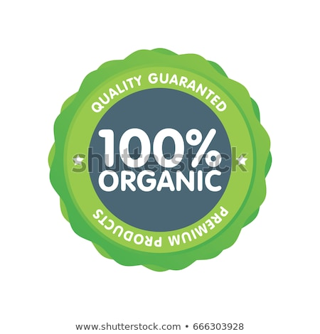 100 por ciento alimentos orgánicos precio etiqueta etiqueta Foto stock © stevanovicigor