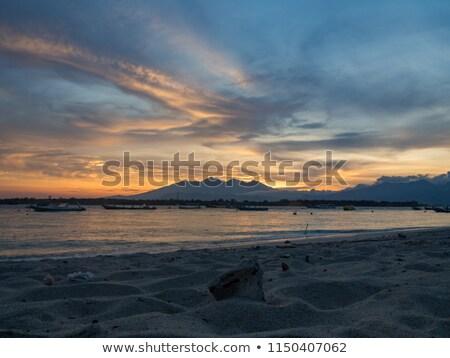 закат · Восход · горизонте · синий · Средиземное · море - Сток-фото © iunewind