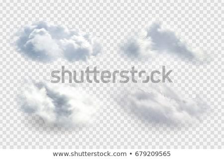Kabarık bulutlar çerçeve beyaz mavi güneşli Stok fotoğraf © zhekos