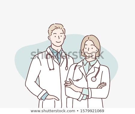 Doktor el yalıtılmış beyaz adam tıbbi Stok fotoğraf © Klinker