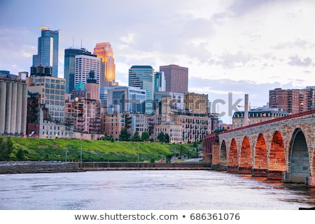 Downtown Minneapolis, Minnesota at night time Stock photo © AndreyKr