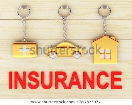 dourado · teclas · branco · isolado · negócio · casa - foto stock © tashatuvango