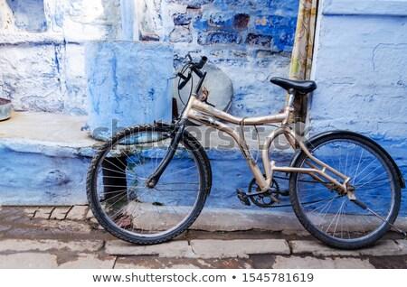 Photo stock: Classique · vintage · noir · vélo · mur