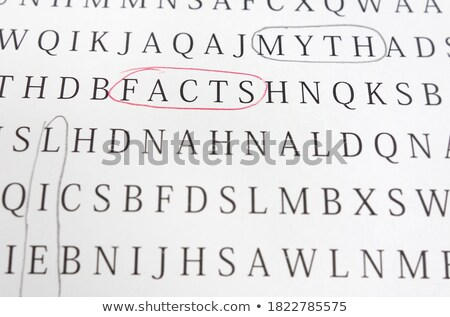 Stock photo: Lying - Text on Red Puzzles.